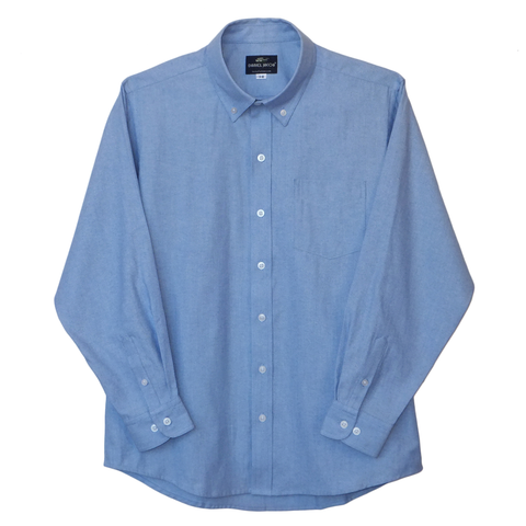 French Blue Husky Wrinkle Resistant Oxford Shirt - HXXL