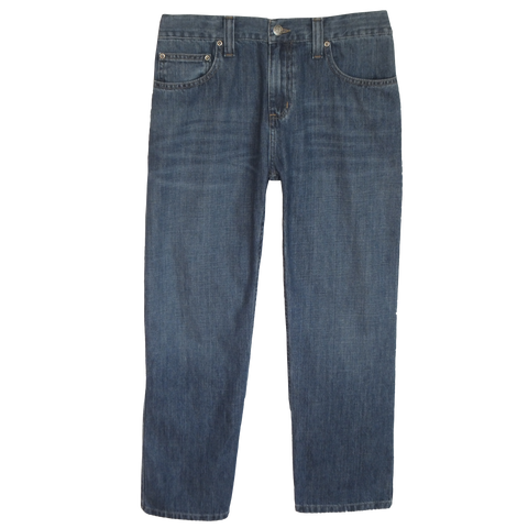 Light Medium Stonewashed Jeans 1/2 Elastic