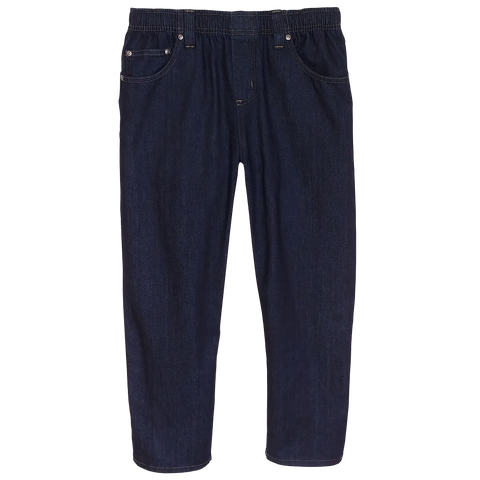 Midnight Blue Classic Denim Jeans Full Elastic