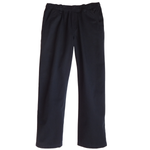 Midnight Navy Twill Pants Full Elastic