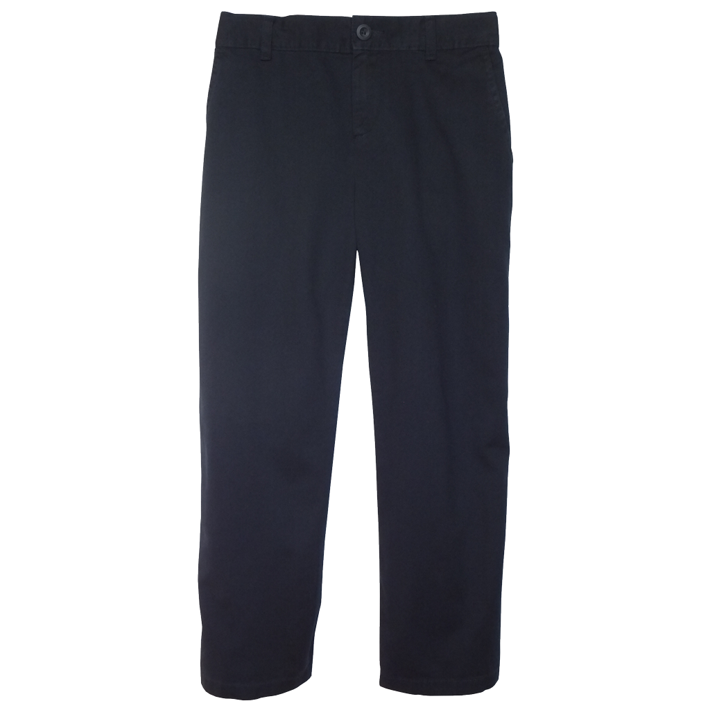 Midnight Navy Twill Pants 1/2 Elastic Size 6H