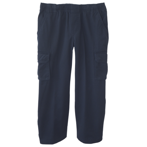 Navy Cargo Pants Full Elastic