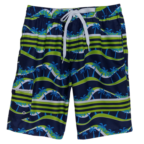 Navy Lime Lost Beach Husky Bathing Suit