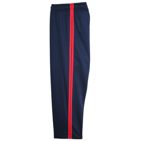 Navy-Red Boys Husky Athletic Pants