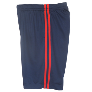 Navy-Red Boys Husky Athletic Shorts