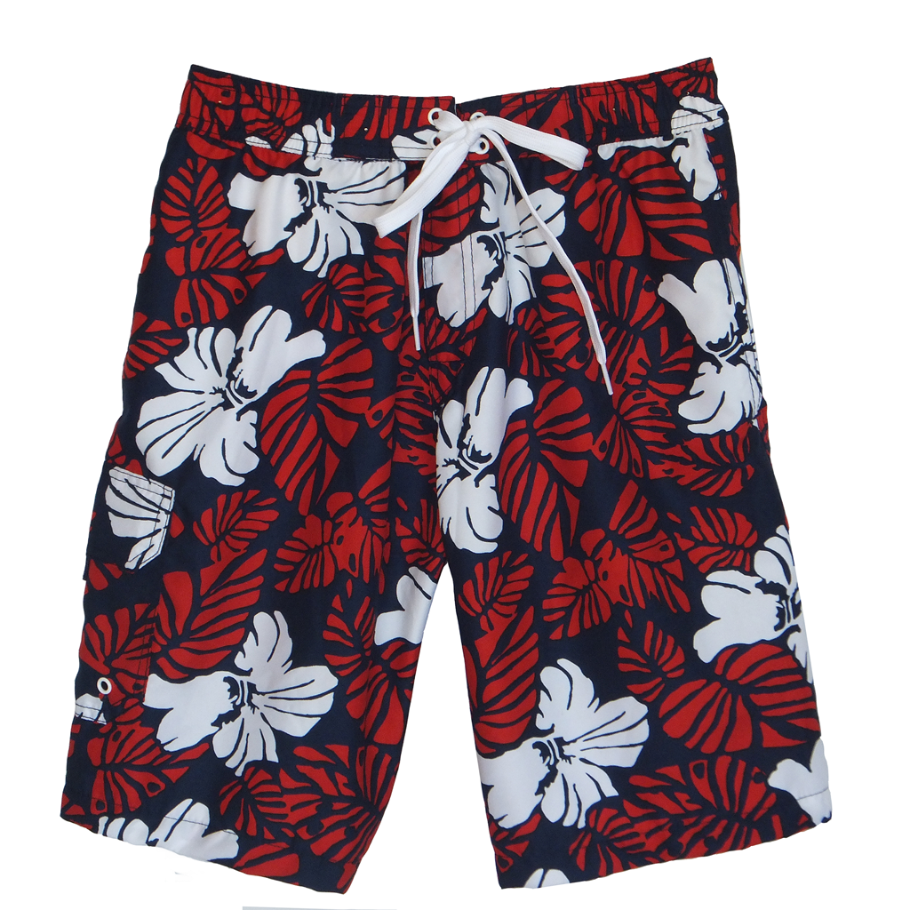 Tropical Red Bathing Suit
