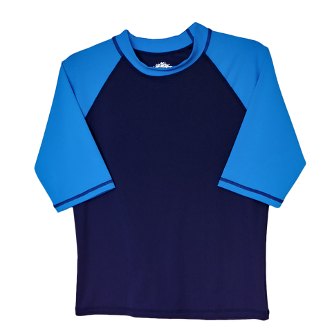 Two Blue Husky Rash Guard