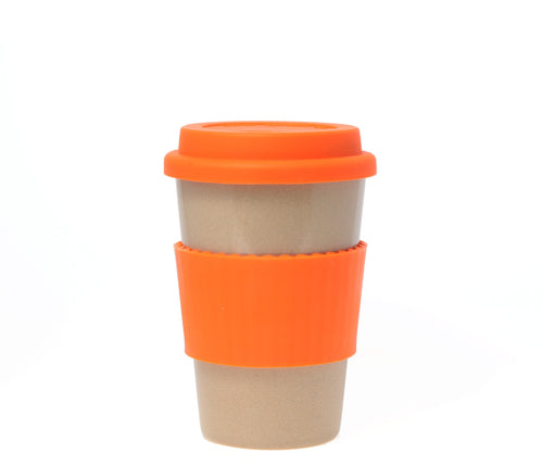 Travel Mug - The Original Eco Travel Mug Made Of Rice Husk - 380ml / Orange Chocolate