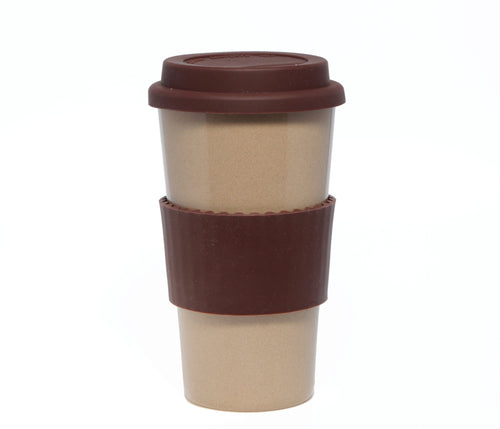 Travel Mug - The Original Eco Travel Mug Made Of Rice Husk - 450ml / Chocolate
