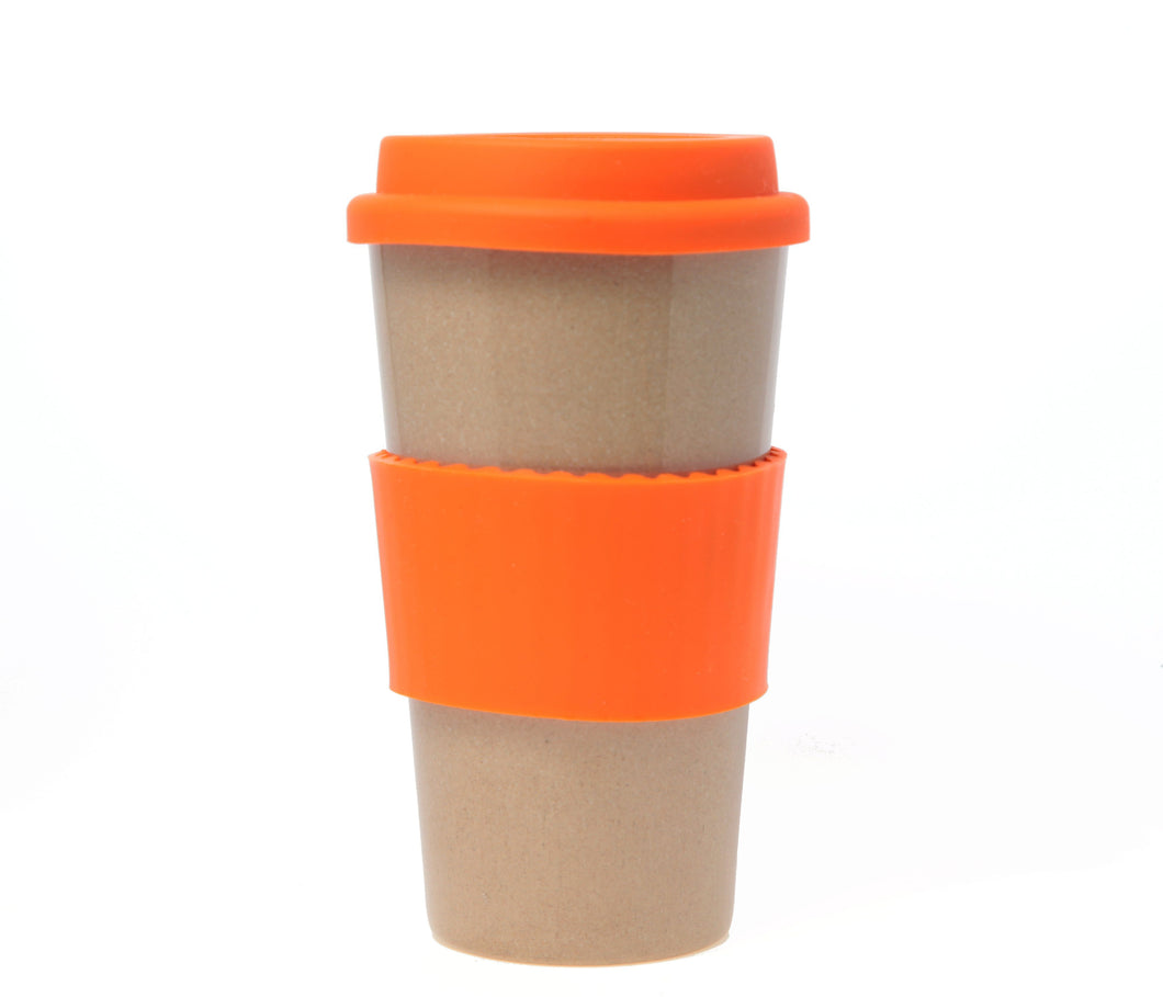 Travel Mug - The Original Eco Travel Mug Made Of Rice Husk - 450ml / Orange Chocolate