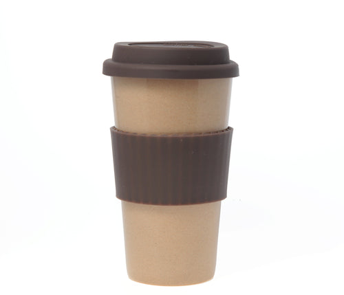 Travel Mug - The Original Eco Travel Mug Made Of Rice Husk - 450ml / White Americano