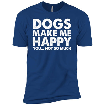 DOGS MAKE ME HAPPY Premium Tee