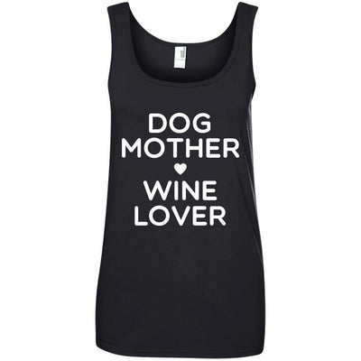 DOG MOTHER WINE LOVER Cotton Tank