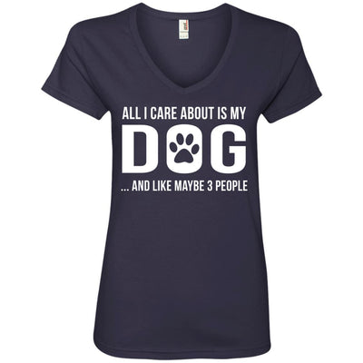 All I Care About Is My Dog V-Neck Tee