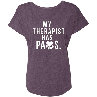 My Therapist Has Paws Slouchy Tee