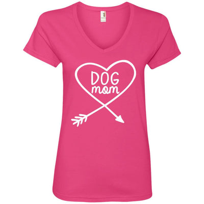 Dog Mom V-Neck Tee