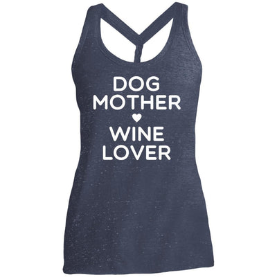 DOG MOTHER WINE LOVER Twist Back Tank