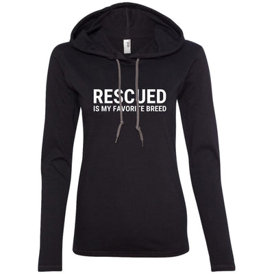 Rescued Is My Favorite Breed T-Shirt Hoodie