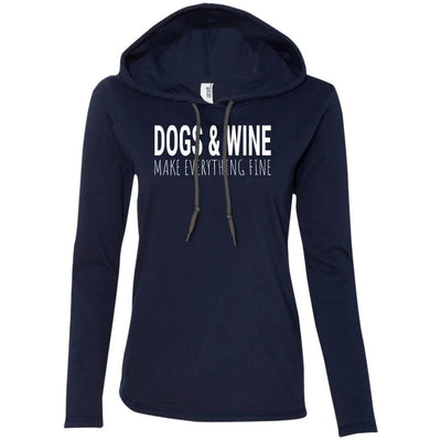 Dogs & Wine Make Everything Fine T-Shirt Hoodie