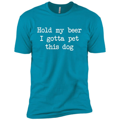 Hold My Beer I Gotta Pet This Dog Premium Tee