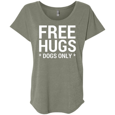 Free Hugs Dogs Only Slouchy Tee