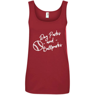 Dog Parks And Ballparks Cotton Tank