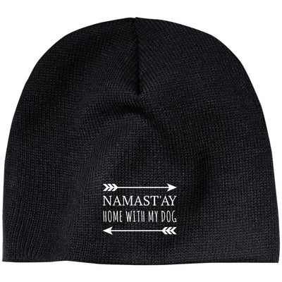 Namast'ay Home With My Dog Classic Beanie