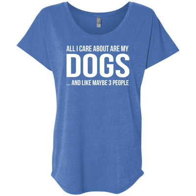 ALL I CARE ABOUT ARE MY DOGS Slouchy Tee