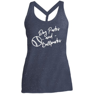 Dog Parks And Ballparks Twist Back Tank