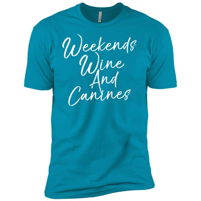 Weekends Wine And Canines Premium Tee