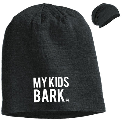 My Kids Bark Slouchy Beanie