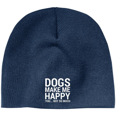Dogs Make Me Happy Classic Beanie