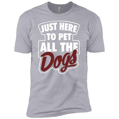 Just Here To Pet All The Dogs Premium Tee