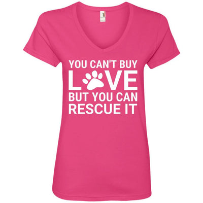 You Can't Buy Love But You Can Rescue It V-Neck Tee