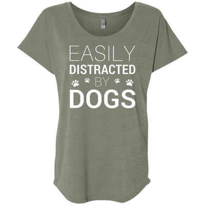 Easily Distracted By Dogs Slouchy Tee