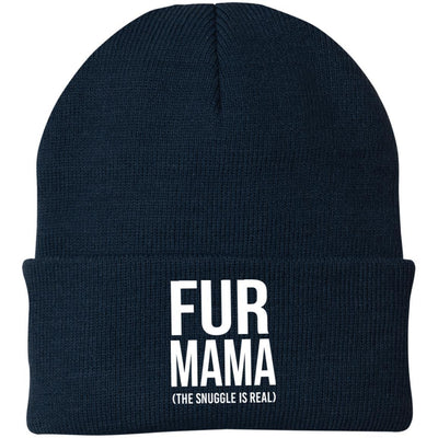 Fur Mama (The Snuggle Is Real) Knit Beanie