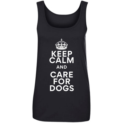 Keep Calm And Care For Dogs Cotton Tank