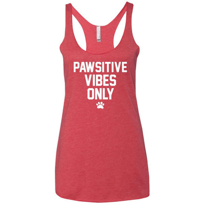 Pawsitive Vibes Only Triblend Tank