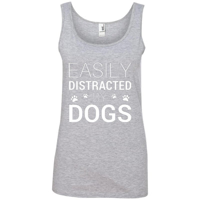 Easily Distracted By Dogs Cotton Tank