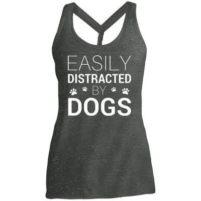 Easily Distracted By Dogs Twist Back Tank