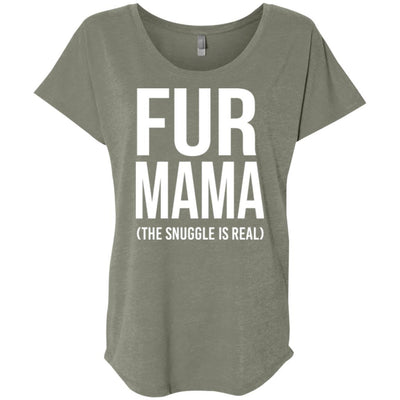 Fur Mama The Snuggle Is Real Slouchy Tee