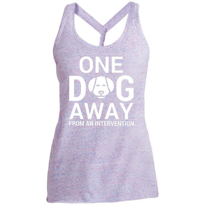 One Dog Away From An Intervention Twist Back Tank