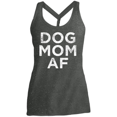 Dog Mom AF Twist Back Tank