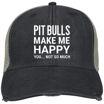 Pit Bulls Make Me Happy, You Not So Much Trucker Cap