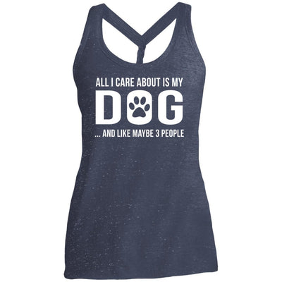 All I Care About Is My Dog Twist Back Tank
