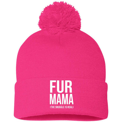 Fur Mama (The Snuggle Is Real) Knit Pom Beanie