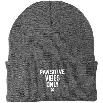 Pawsitive Vibes Only Knit Beanie