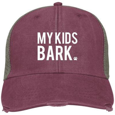 My Kids Bark Hat Trucker Cap