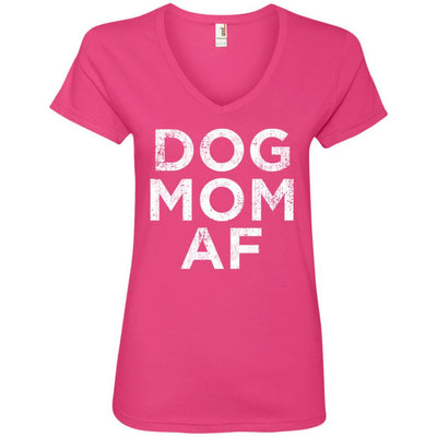 Dog Mom AF V-Neck Tee