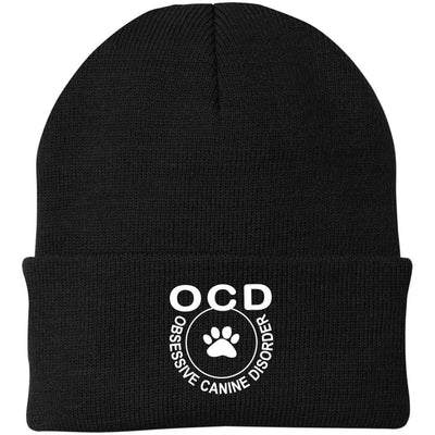Obsessive Canine Disorder Knit Beanie